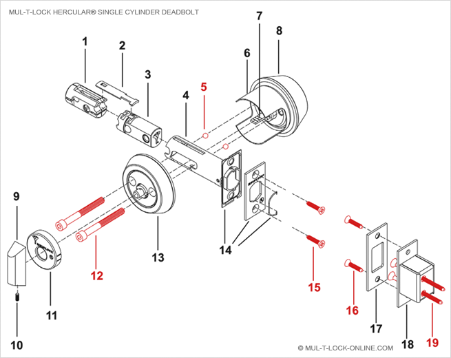 Schlage door lock parts diagram schlage free engine for Door lock parts