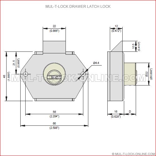 MUL-T-LOCK Interactive+ Drawer Latch Lock @ MUL-T-LOCK