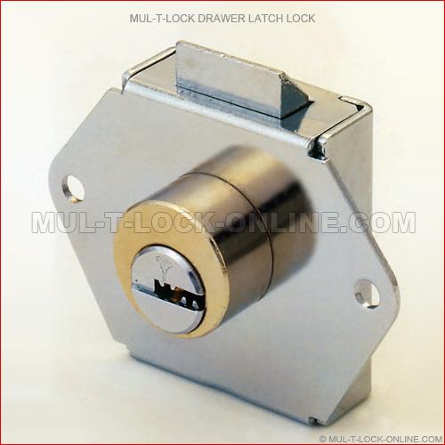 mul t lock interactive drawer latch lock mul t lock online com. Black Bedroom Furniture Sets. Home Design Ideas