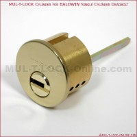 MUL-T-LOCK High Security Cylinder for BALDWIN Single Cylinder Deadbolt