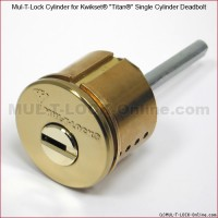 MUL-T-LOCK High Security Cylinder for KWIKSET TITAN Single Cylinder Deadbolt