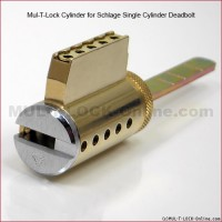MUL-T-LOCK High Security Cylinder for SCHLAGE / ARROW Single Cylinder Deadbolt