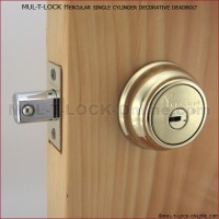 MUL-T-LOCK High Security Hercular Captive Key Deadbolt (decorative style)
