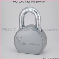 "MUL-T-LOCK High Security TSR25 Round Body Padlock (7/16"" Shackle)"
