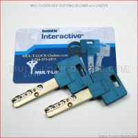 MUL-T-LOCK Key Cutting ID Card with 2 Keys