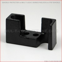 Shackle Protector for MUL-T-LOCK High Security C-Series Padlock with Pop Shackle