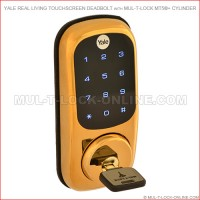 YALE Real Living Touchscreen Deadbolt with MUL-T-LOCK MT5+ Cylinder