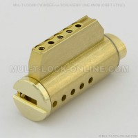 MUL-T-LOCK High Security Cylinder for SCHLAGE F Line Knob (Orbit Style)