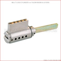 MUL-T-LOCK High Security Cylinder for YALE Knobs & Levers