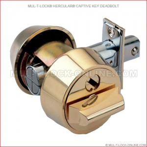 MUL-T-LOCK High Security Hercular Captive Key Deadbolt