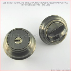 MUL-T-LOCK High Security Hercular® Deadbolt (decorative style)