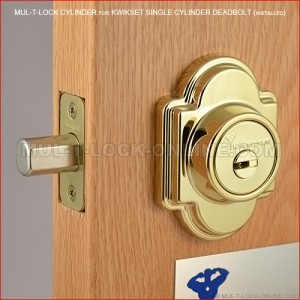 MUL-T-LOCK High Security Cylinder for KWIKSET Single Cylinder Deadbolt
