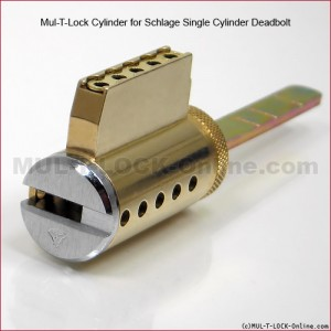 MUL-T-LOCK High Security Cylinder for YALE Real Living Deadbolt
