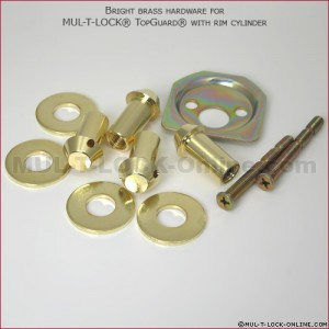 Hardware for MUL-T-LOCK High Security Top-Guard with Rim Cylinder