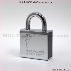 "MUL-T-LOCK High Security #8 C-Series Padlock (5/16"" Shackle)"