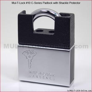 "MUL-T-LOCK High Security #10 C-Series Padlock with Protector (3/8"" Shackle)"