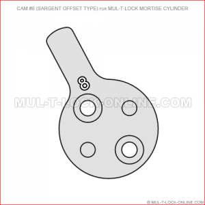 Cam #8 (SARGENT offset type) for MUL-T-LOCK High Security Mortise Cylinder