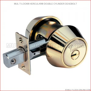 MUL-T-LOCK High Security Hercular® Double Cylinder Deadbolt