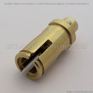 Thumb Turn Plug for MUL-T-LOCK Hercular Single Cylinder Deadbolt