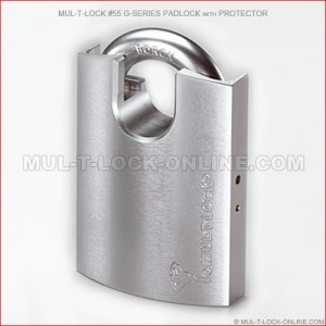 MUL-T-LOCK High Security #55 G-Series Padlock with Protector