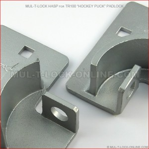 MUL-T-LOCK High Security Hasp for TR100 Hockey Puck Padlock
