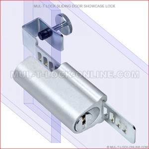 MUL-T-LOCK High Security Sliding Door Showcase Lock