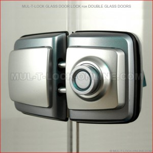 MUL-T-LOCK High Security Glass Door Lock for Double Glass Doors