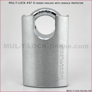 MUL-T-LOCK High Security MT5+ #55 G-Series Padlock with Protector