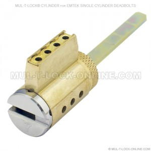 MUL-T-LOCK MT5+ High Security Cylinder for EMTEK Single Cylinder Deadbolt