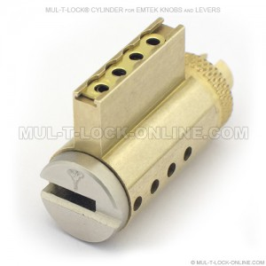 MUL-T-LOCK MT5+ High Security Cylinder for EMTEK Knobs & Levers