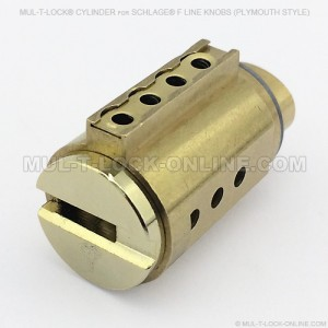 MUL-T-LOCK High Security Cylinder for SCHLAGE F Line Knobs (Plymouth Style)