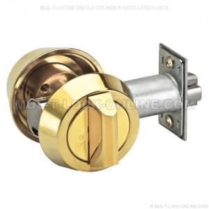 MUL-T-LOCK High Security Single Cylinder Gate Latch Lock