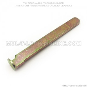 Tailpiece for MUL-T-LOCK Cylinder for FALCON / WEISER Single Cylinder Deadbolt